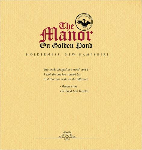 Brochure Design - Manor on Golden Pond