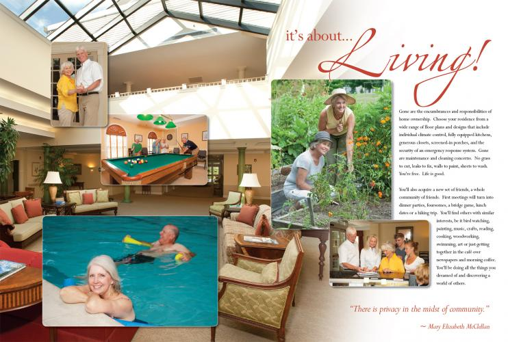 Brochure Design - Rivermead Retirement Community